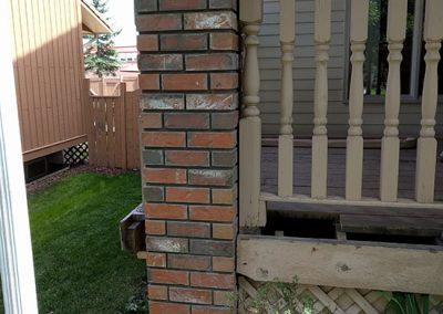 Residential pillar rebuild