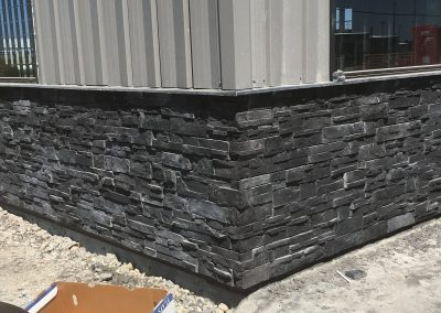 Commercial stone install