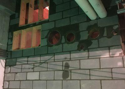 Block wall install