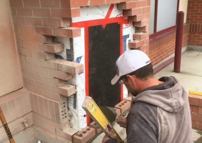 Vehicle impact brick repair