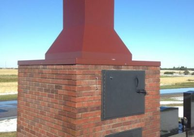 Fire burner masonry