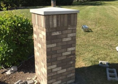 Brick pillar rebuild