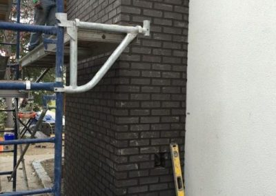 Brick chimney construction